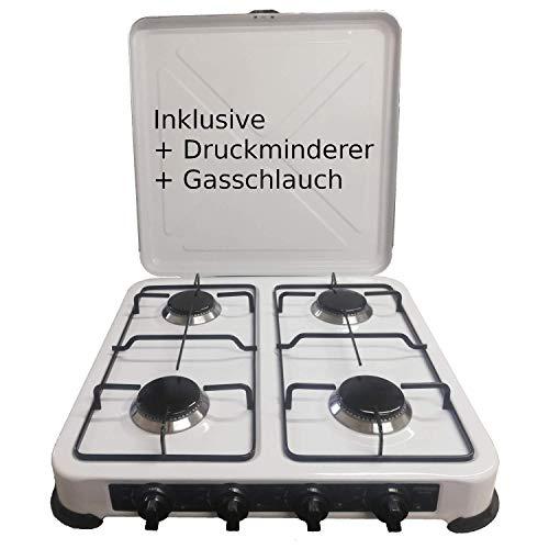 Camping Gaskocher Hochwertiger 4 flammiger Kocher Campingkocher  / Lieferung inklusive 80cm...