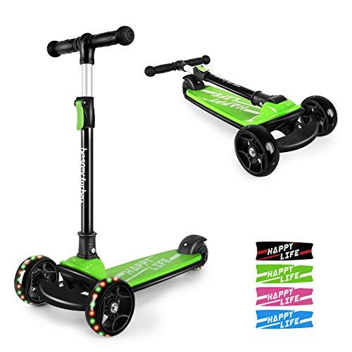 besrey Kinderroller Kinderscooter Kinder Roller Kickscooter für Kleinkind 3 Räder höhenverstellbar mit...