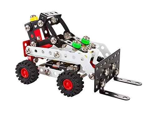 A ALEXANDER 1642 Constructor Bob Radlader Metall Bausatz, 181 Teile Metallbaukasten, Metallbausatz mit...