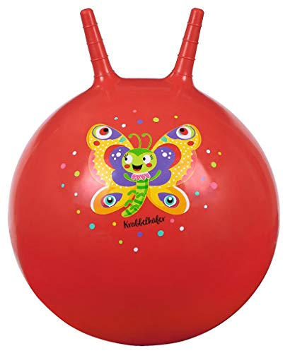 Moses. 16129 Krabbelkäfer Hüpfball Schmetterling in rot | Bouncing Ball für Kinder ab 4 Jahren |...