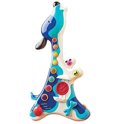 Detazhi Niedliche Cartoon Hund Gitarre Spielzeug Elektronische Tiergitarre Spielzeug Multifunktionsmusik...