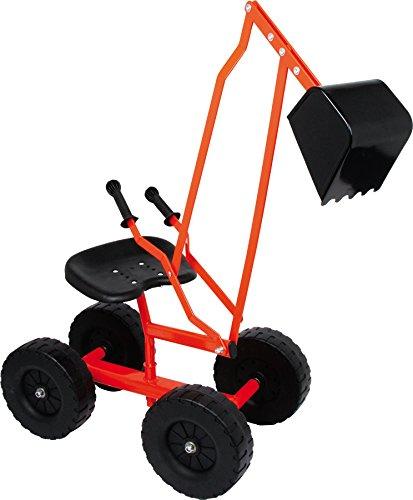 small foot 4628 Bagger mit Schaufel und Rädern für Kinder, Sandspielzeug / Strandspielzeug, 360°...