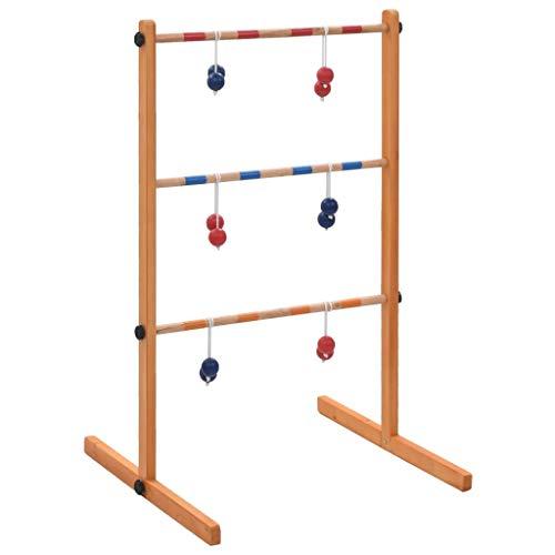 vidaXL Kiefernholz Massivholz Leitergolf Laddergolf Ladder Golf Wurfspiel Bola Top Qualität Leiterspiel...