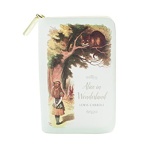 Alice im Wunderland buchinspiriertes Portemonnaie mit Rundum-Reißverschluss für Literaturliebhaber von...