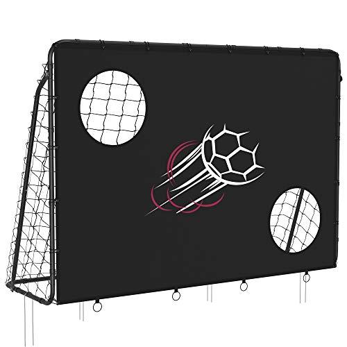 SONGMICS Fußballtor für Kinder, mit Torwand, schnelle Montage, Garten, Park, Strand, Eisenrohre und...