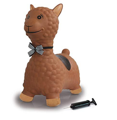 JAMARA 460542 - Hüpftier Lama mit Pumpe - BPA-Frei, bis 50 kg, fördert den Gleichgewichtssinn und die...