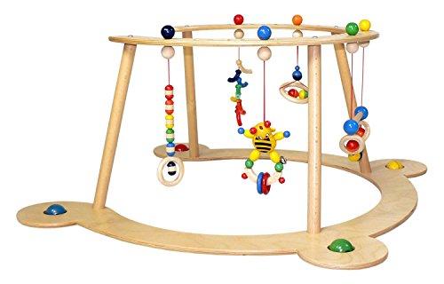 Hess Holzspielzeug 13333 - Lauflerngerät und Spielbogen aus Holz, Serie Biene, für Babys,...