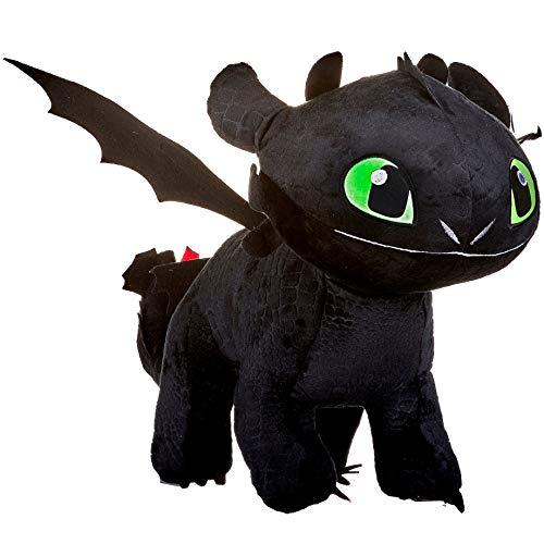 Toothless Night Fury 40cm Drachenzähmen leicht gemacht 3 Schwarz Plsch Films How to Tran Your Dragon 3...