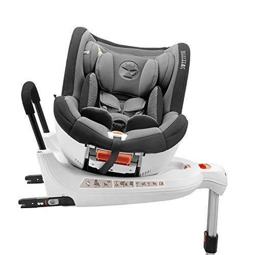 Kinderautositz Drehbar 0-18kg, 360°, Isofix, Gruppe 0+/1, ECE R44/4 Norm (Maximale Sicherheit für Ihr...