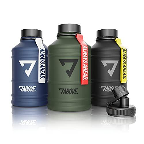 ABOVE. 1,3L - 2,2L Edelstahl Trinkflasche I Extra Trinkverschluss I BPA Frei I Kohlensäure Geeignet I...