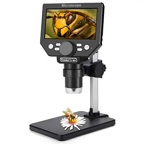 LCD Digital USB Mikroskop, Koolertron 4,3 Zoll 1080P 8 Megapixel 1000X HD Vergrößerung Zoom Drahtlose...