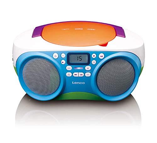 Lenco SCD-41 - CD-Player für Kinder - CD-Radio - Stereoanlage - Boombox - UKW Radiotuner - USB Anschluss...
