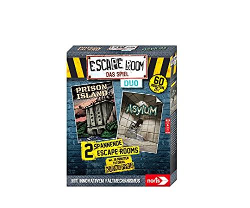 Noris 606101838 - Escape Room DUO, Familien und Gesellschaftsspiel für Erwachsene, inkl. 2 Fällen und...
