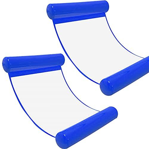 [2Stück] Wasserhängematte Luftmatratze aufblasbare Schwimmende Wasser Bett Strandmatte Floating Lounge...