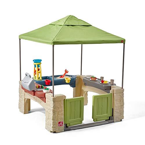Step2 All Around Speelpatio Spielhaus | Kunststoff Patio für Kinder mit Küche & Zubehör | Inklusive...