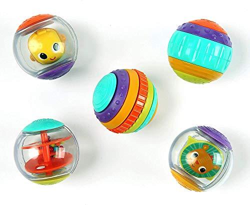 Bright Starts Shake & Spin 5 leicht greifbare Spielbälle die rasseln, kreiseln, klicken und vieles mehr,...