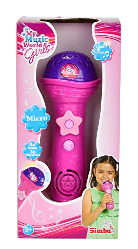 Simba 106831464 - My Music World Girls Shining Mikro 20 cm