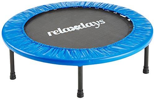 Relaxdays Fitness Trampolin, 91 cm Durchmesser, Indoortrampolin, belastbar bis 100 kg, Fitness und...