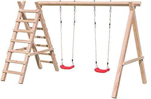 Gartenpirat Doppelschaukel mit Leiter