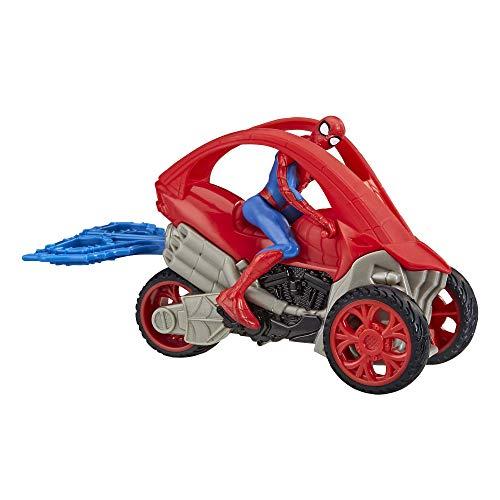 Hasbro E7739 Spider-Man: Spider-Man Stunt Fahrzeug 15 cm groß, mit Abnehmbarer Actionfigur, ab 4 Jahren