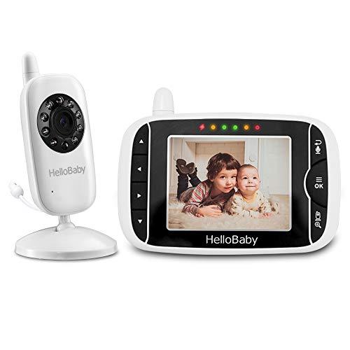HelloBaby Babyphone mit Kamera HB32 3.2' Digital Funk TFT LCD Drahtloser Video baby Monitor mit...