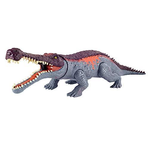 Jurassic World GVG68 - Gewaltige Beißer Sarcosuchus, größere Dinosaurier-Actionfigur mit beweglichen...