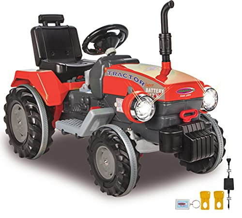 JAMARA 460319 - Ride-on Traktor Power Drag 12V - 2-Gang, Gaspedal, Bremse, 2 leistungsstarke...