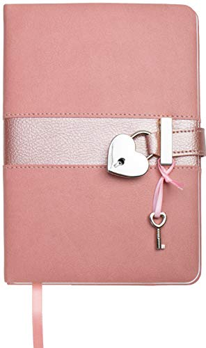 Trötsch Tagebuch Matt & Shiny Rosa: mit Schloss und Schlüssel