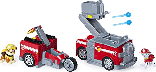 PAW Patrol Marshall Split-Second 2in1 Transforming Fire Truck Fahrzeug mit 2 Sammelfiguren