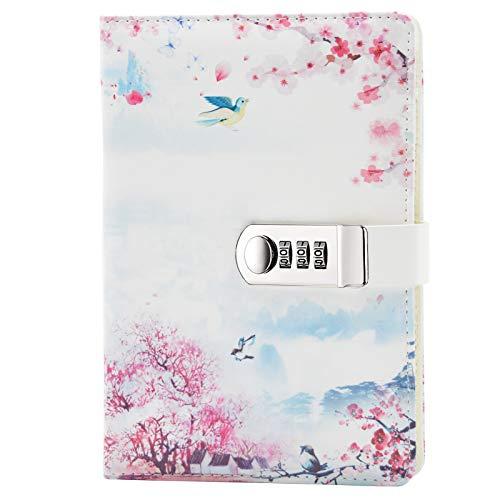 Lirener PU Lederbuch A5 Tagebuch Notizbuch Notebook Skizzenbuch Journal Planer Organizer, Geheimnis...
