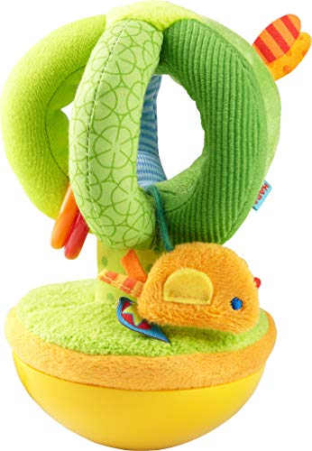 HABA 304281 - Stehauffigur Zauberbaum, Stoffspielzeug mit Vögelchen für Babys ab 6 Monaten, inklusive...