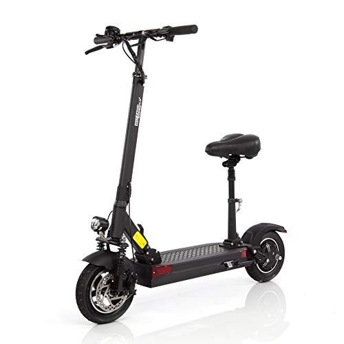 Wizzard Elektro City Scooter 2.5 Plus - 500 W Motor - 100 Km Reichweite - 40 Km/h - (Schwarz mit Sitz -...