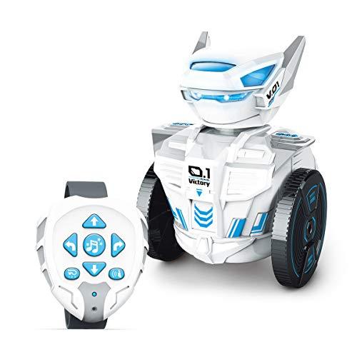 MKZDGM Kinderspielzeug Fernbedienungsroboter mit Uhr für Kinder Mint/STEM Lernroboter DIY-Zubehör...