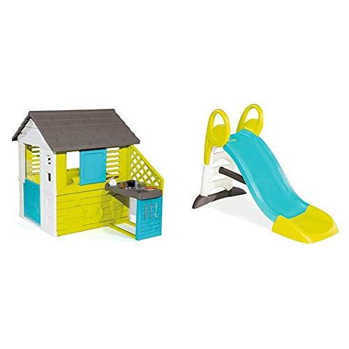 Smoby – Pretty Haus - Spielhaus für Kinder für drinnen und draußen, mit Küche und Küchenspielzeug...