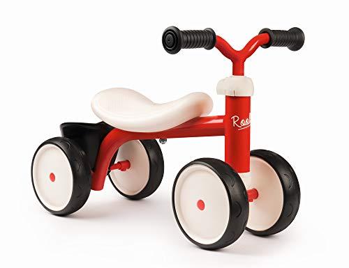 Smoby 721400 – Rookie Laufrad Rot – ideale Lauflernhilfe für Kinder ab 12 Monaten, Lauflernrad mit...