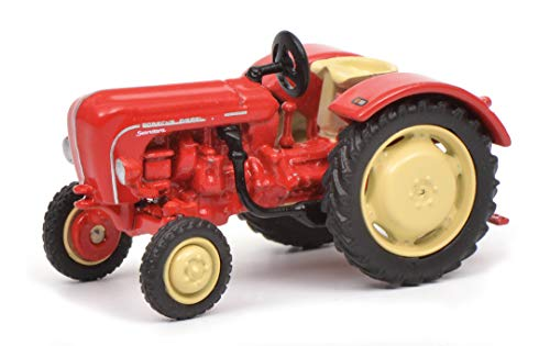 Schuco 452641500 Porsche Standard, Traktor, Modellauto, 1:87, rot