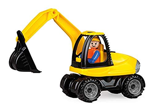 Lena 01621 - Truckies Bagger, stabiles Baustellen Fahrzeug ca. 25 cm, kleines Spielfahrzeug...