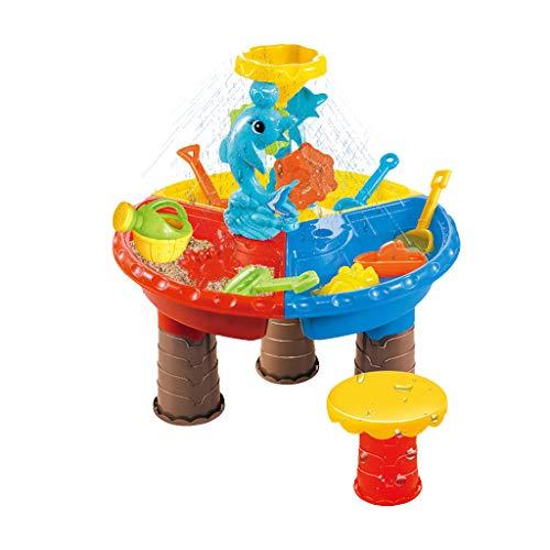 Dainzuy Kinder Spieltisch Sand and Water Sand & Wasser Spieltisch Spielzeug Sandspieltisch...