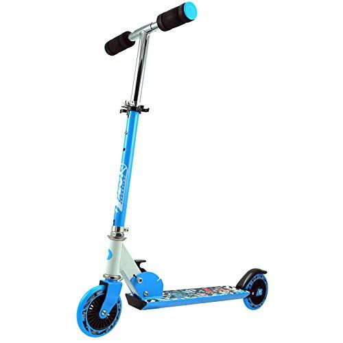 Best Sporting Scooter 125er Rolle, Basic Tretroller für Kinder, klappbar, ABEC-5 Kugellager, Farbe...
