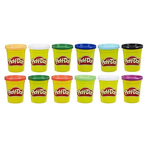 Play-Doh E4830F03 12er-Pack mit Spielknete in Grundfarben, 112g-Dosen in recycelbarer Verpackung, optimal...