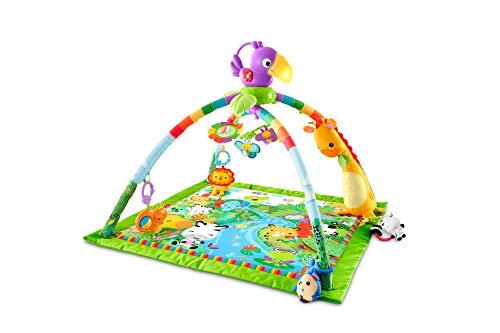 Fisher-Price GXC35 - Rainforest Erlebnisdecke, Krabbeldecke mit Musik und Lichtern, Spieldecke für Babys...