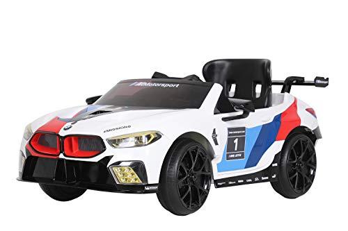 ROLLPLAY Elektroauto BMW M8 GTE, Für Kinder, 3 – 6 Jahre, 12 V 7 Ah Akku, 5 km/h, inkl. Fernsteuerung,...