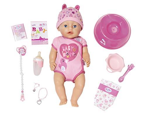 BABY born 824368 Soft Touch Girl Puppe mit lebensechten Funktionen und viel Zubehör, bewegliche Gelenke...