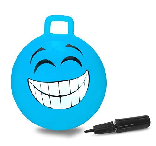 JAMARA 460458 Hüpfball Smile, BPA-Frei, 450mm-bis 50 kg, fördert den Gleichgewichtssinn und die...