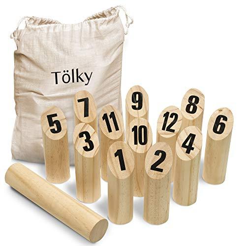 Toyfel Tölky Indoor & Outdoor Wurfspiel aus Finnland – Schweden Schach aus FSC® Holz – Lustiges...