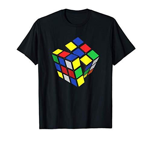 Rubik Cube Zauber Würfel Geschenk Jung Alt Nerd Retro T-Shirt