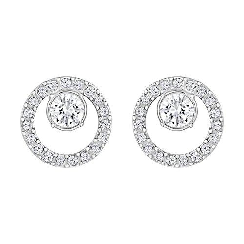 Swarovski Women's Creativity Stud Earrings, Set of White Swarovski Earrings with Rhodium Plating, part of...