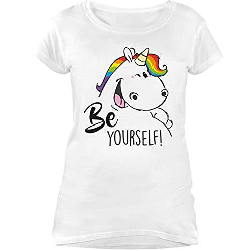 Pummeleinhorn Pummel & Friends Damen T-Shirt Be Yourself! Gr. L Oberteil