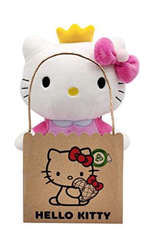 Joy Toy 20614 Hello Kitty Princess Eco Plush 24 cm, Mehrfarbig