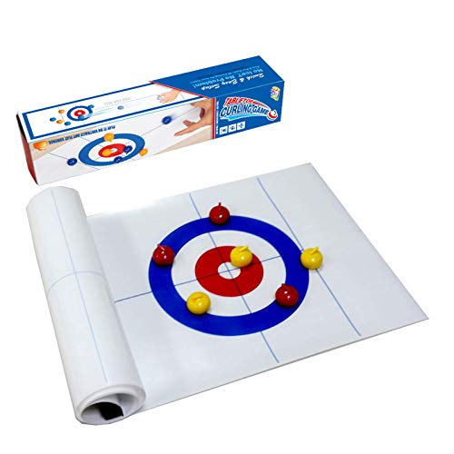 Wizsoula Tisch-Curling-Ball-Spiel, Mini Desktop-Eishockey, Shuffleboard-Tisch, Interaktive Pädagogische...